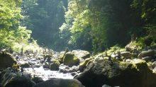 l'esterno della grotta della dea giapponese amaterasu